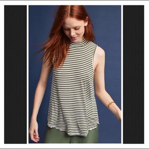NWT Anthropologie Pure + Good Mock Neck Tank Top M